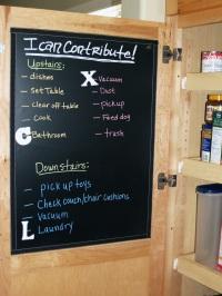 Chore chart magnetic chalkboard